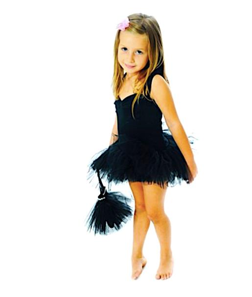 Fairy Girls Tutu Singlet Dress - Black Small