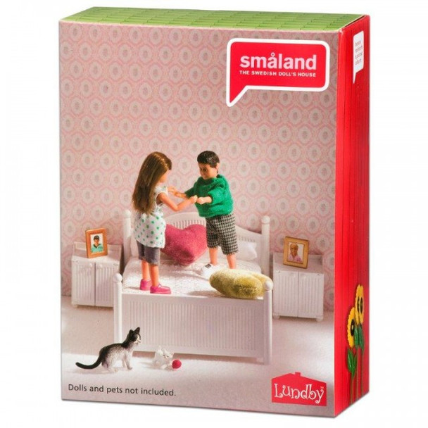 Smaland 2015 White Wooden Bedroom Set by Lundby