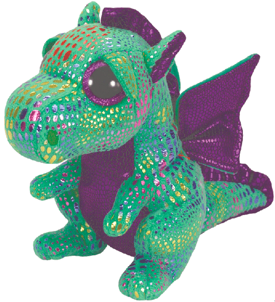 Cinder the Green Dragon (Medium) - TY Beanie Boos