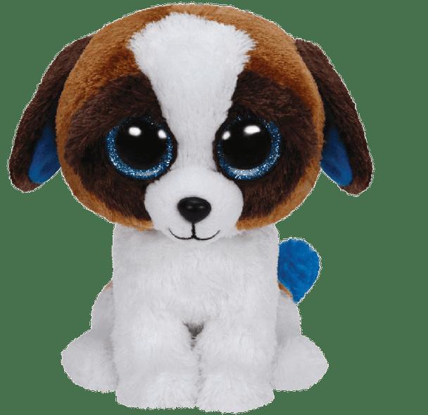 Duke the Brown White Dog (Medium) - TY Beanie Boos