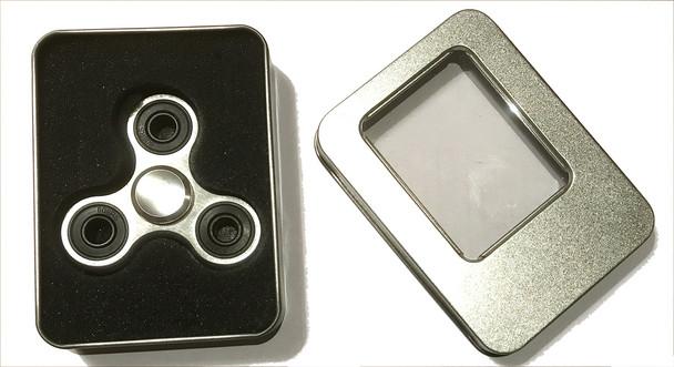 Silver Aluminium Alloy Fidget Spinner