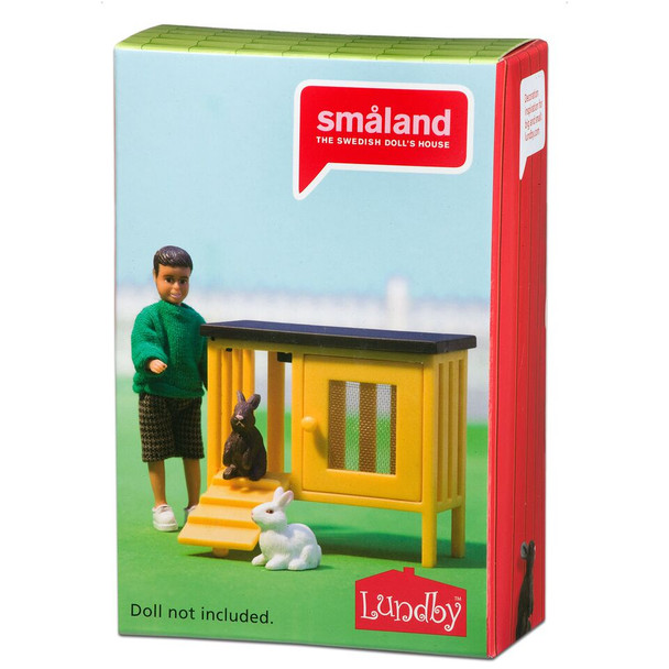 Smaland Rabbits & Hutch by Lundby