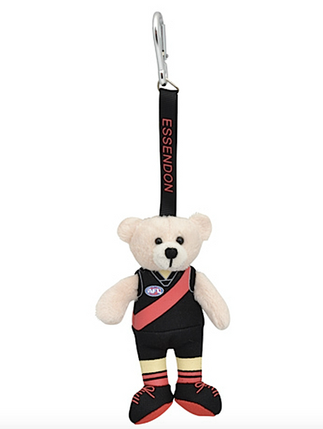 AFL Beanie Kid Bear Essendon Bombers - Bag Tag