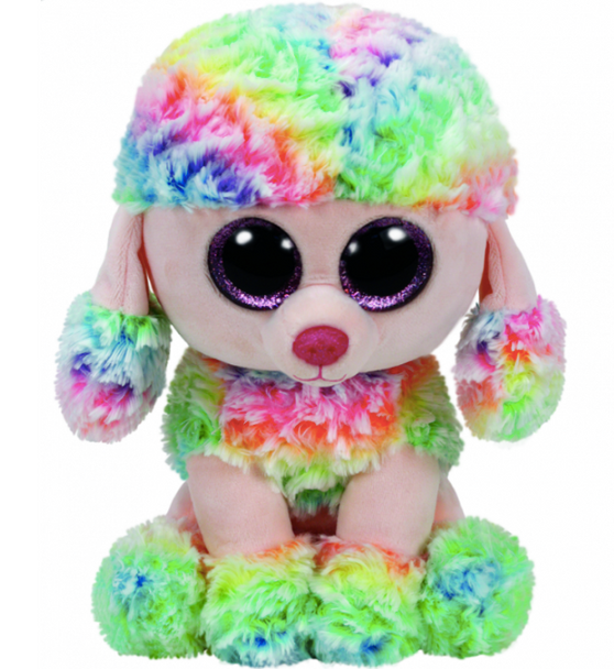 Beanie Boos XL Rainbow Multi-Coloured Poodle