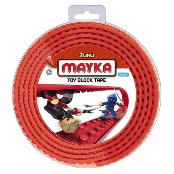 MAYKA Block Tape Red – 4 Stud Roll 2m