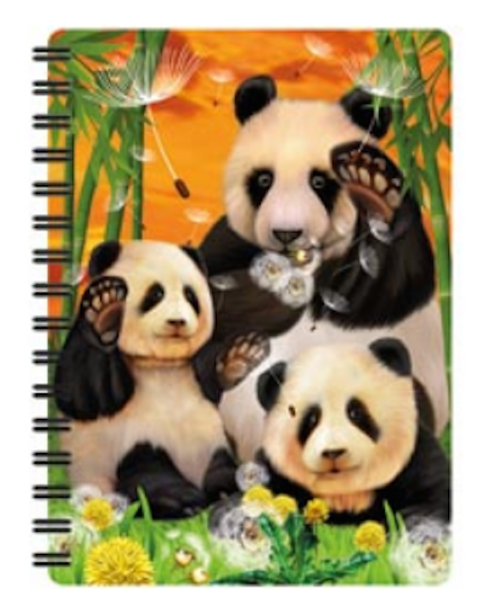 3D LiveLife Jotter – Panda Club A6 Notebook
