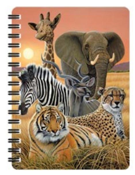 3D LiveLife Jotter – Safari A6 Notebook
