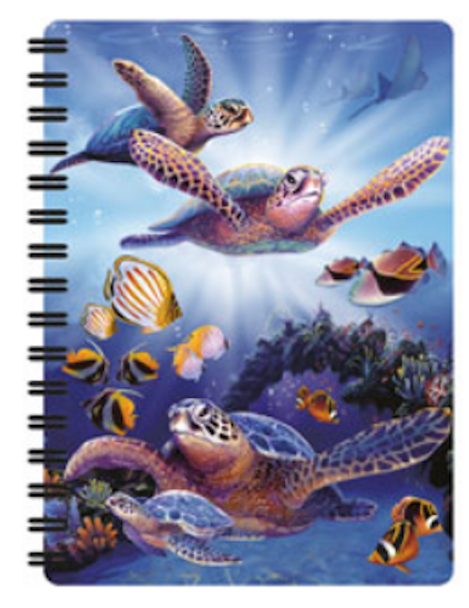3D LiveLife Jotter – Turtles In Light A6 Notebook