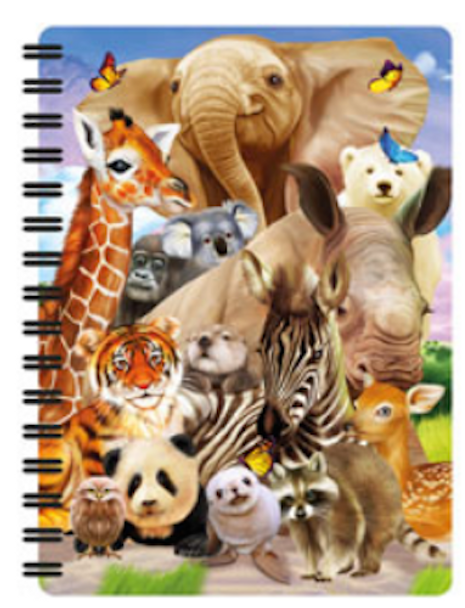 3D LiveLife Jotter – Wild Smile A6 Notebook