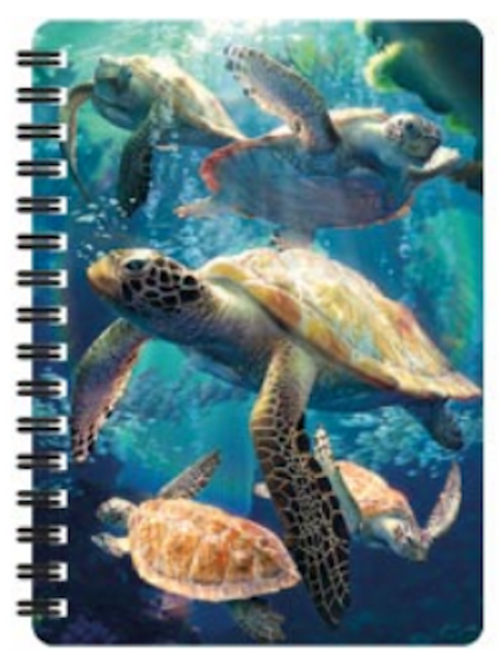 3D LiveLife Jotter – Sea Turtle Swim A6 Notebook