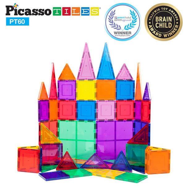 Picasso Tiles 60 Piece Magnet Building Set