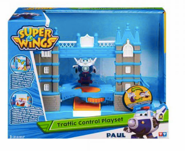 Super Wings Traffic Control Tower Bridge Superwings Playset