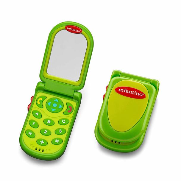 Infantino Flip & Peek Fun Phone - Green