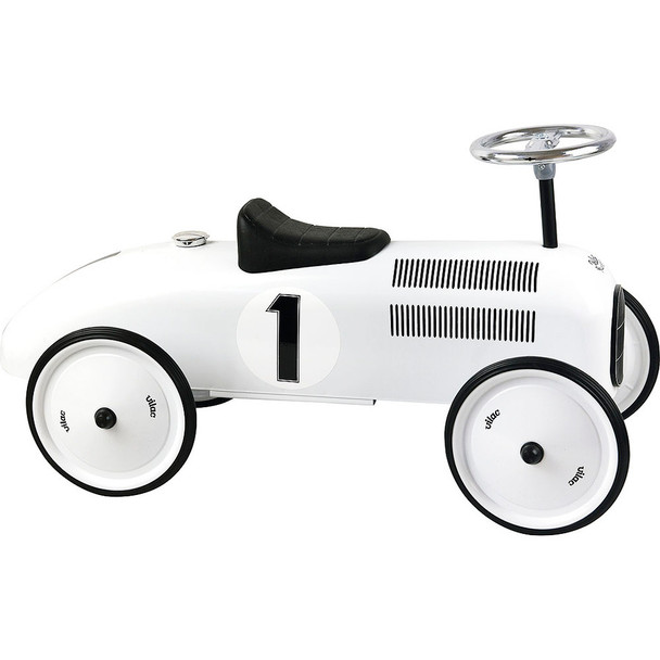 Vilac Vintage Ride On Classic Toy Car - White