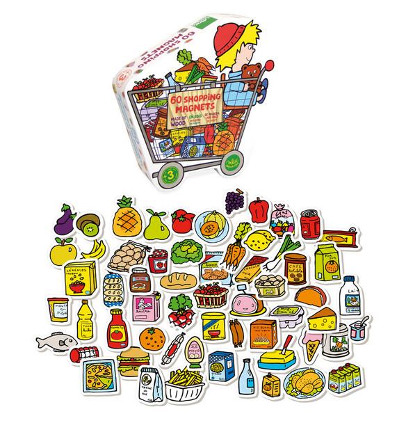 Vilac Grocery Store Kids Magnet Set