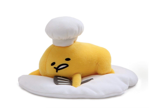 GUND Gudetama Lazy Egg with Hat and Spatula - 18cm