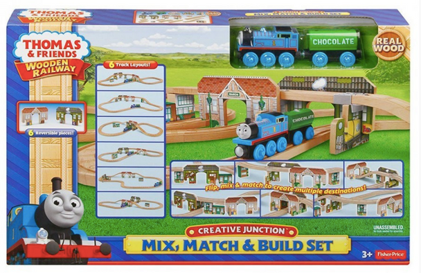 Fisher-Price Thomas Wooden Railway - Creative Junction Mix Match and Build