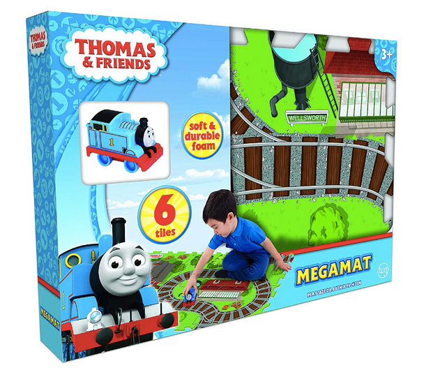 Thomas & Friends 6-Piece Mega Floor Mat with Train Vehicle