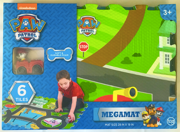 Paw Patrol 6-Piece Mega Floor Tile Mat with Vehicle