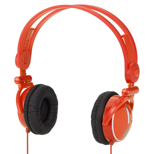 Kidz Gear  Travel Friendly Wired Headphones for Kids - Orange