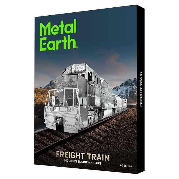 Metal Earth - Freight Train Model Kit with Gift Box