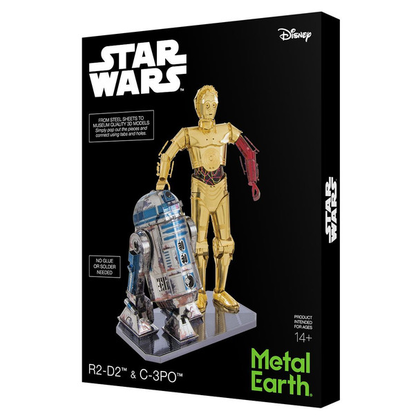 Metal Earth - R2-D2 and C-3PO Model Kit with Gift Box
