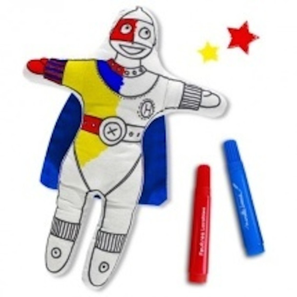 Colour in Super Boy with Washable Pens