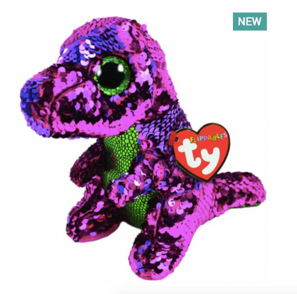 TY Flippables 36262 Stompy Pink Dinosaur Regular - 18cm
