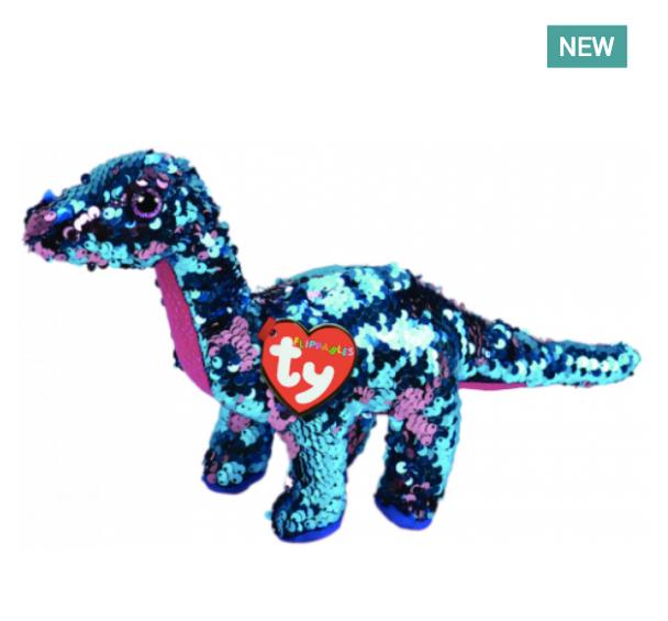 TY Flippables 36263 Tremor Aqua-Pink Dinosaur Regular - 18cm