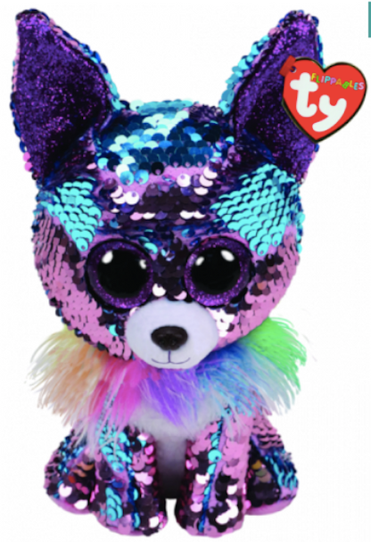 TY Flippables 36438 Yappy Blue-Purple Chihuahua Medium - 24cm
