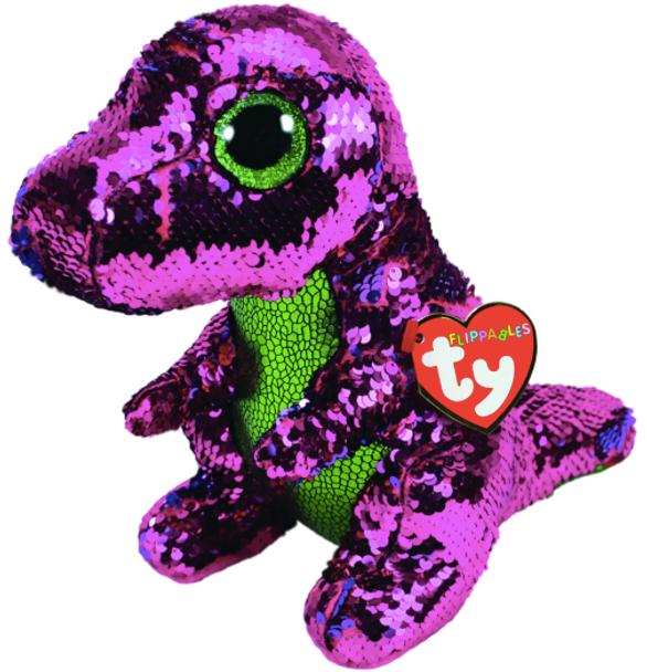 TY Flippables 36431 Stompy Pink Dinosaur Medium - 24cm