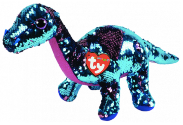TY Flippables 36432 Tremor Aqua-Pink Dinosaur Medium - 24cm