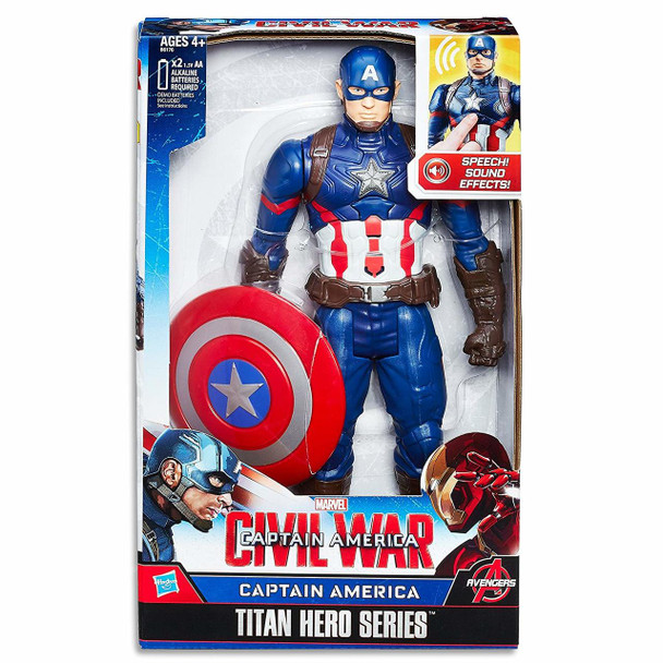 "Marvel Avengers 12"" Captain America Electronic Action Figure Titan Hero Series"
