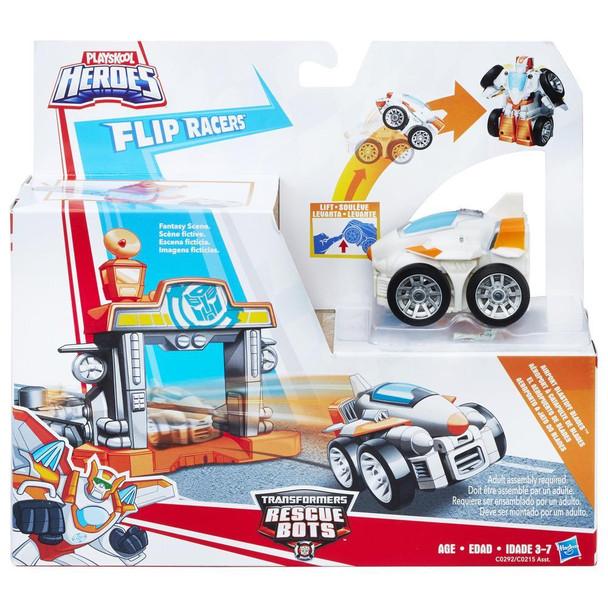 Transformers Rescue Bots Playskool Heroes Flip Racers Airport Blastoff Blades
