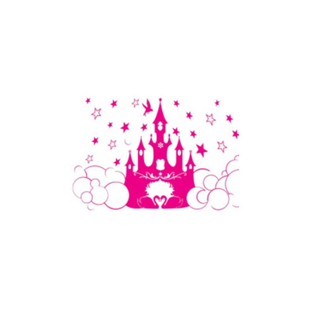 Wall Decal - Pink Princess Castle