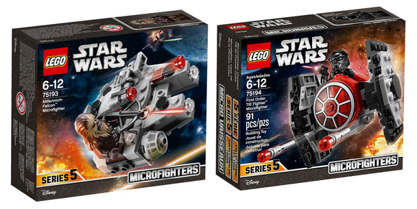 LEGO® Star Wars 75193 Millennium Falcon Microfighter + 75194 First Order TIE Fighter Microfighter