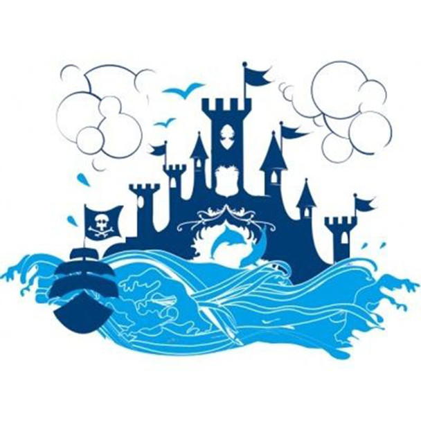 Wall Decal - Blue Fortress