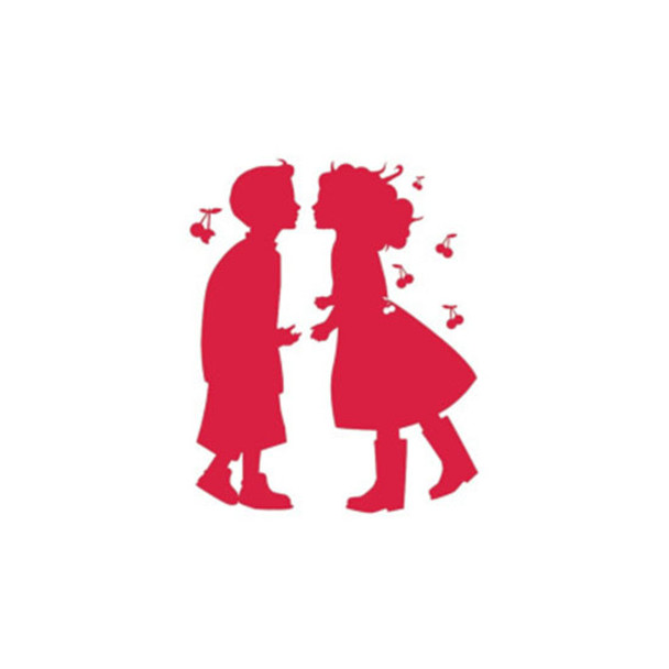 Wall Decal - Cherry Red Boy & Girl