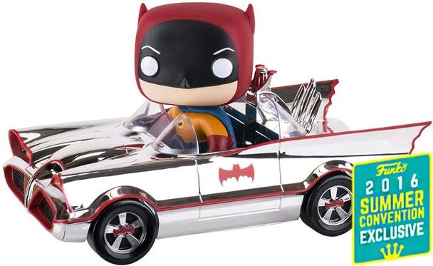 Batman (1966) - Batmobile Chrome SDCC 2016 US Exclusive Pop! Ride