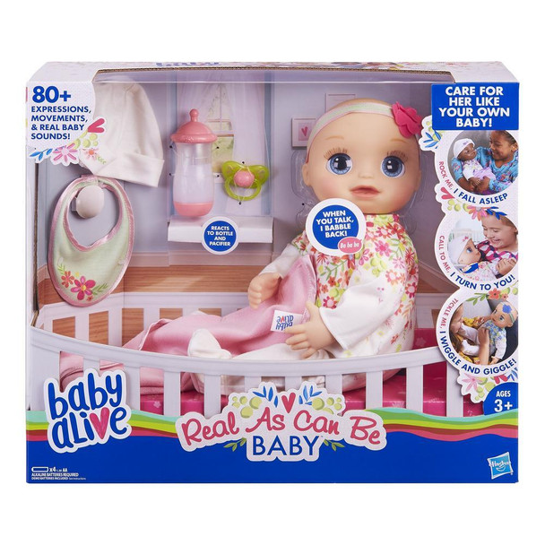 Baby Alive Real As Can Be Baby (Blonde Sculpted Hair)