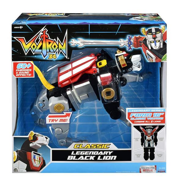 Voltron Classic Legendary Black Lion Action Figure with Sound FX - 20cm