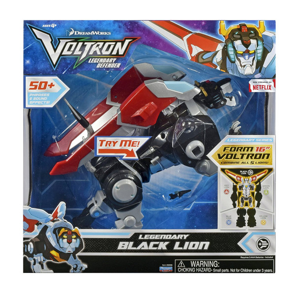Voltron Legendary Black Lion Action Figure with Sound FX - 20cm