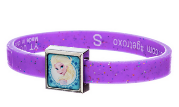 Frozen Elsa and Anna Glitter Charm Bracelet Set by ROXO