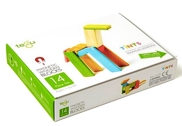 Tegu - Magnetic Wooden Blocks 14pc - Tints (TEG14306)