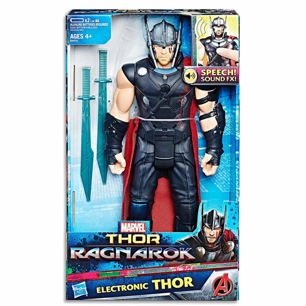 "Avengers 12"" Thor Ragnarok Electronic Action Figure by Hasbro"