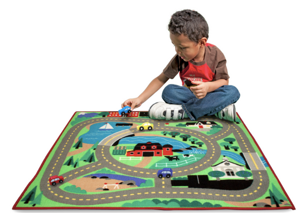 Melissa & Doug Round The Town Road Rug and Car Activity Play Set