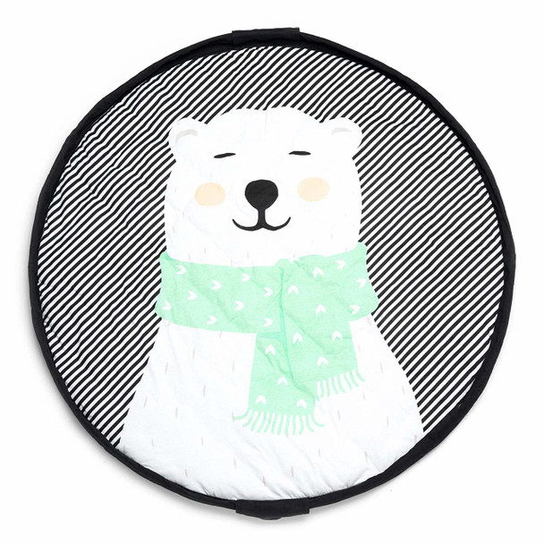 Play&Go Soft 2 in 1 Travel bag and Baby Play Mat - Polar Bear Print 120cm
