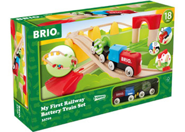 BRIO - My First Railway Battery Operated Train Set, 25 pcs