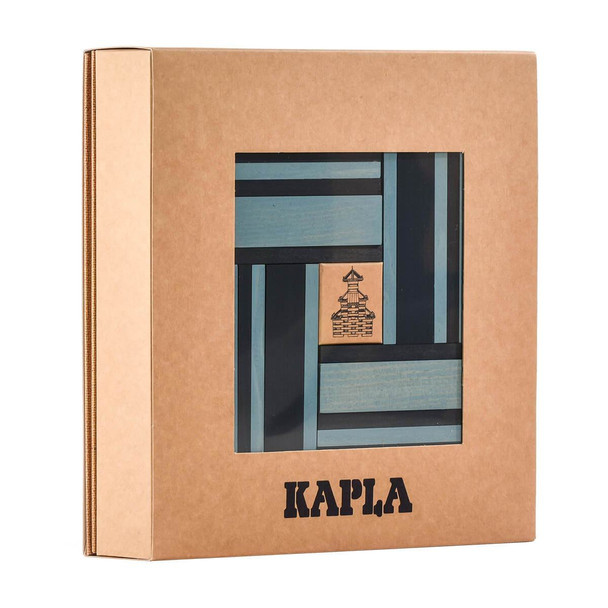 KAPLA 40 Piece Two Colour Wooden Set - Light and Dark Blue