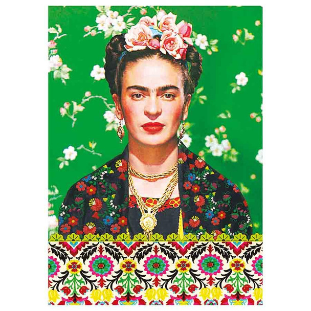 Kitsch Kitchen Frida Kahlo A6 Notebook - Green
